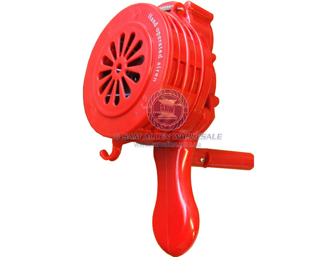 PLASTIC HAND OPERATED SIREN