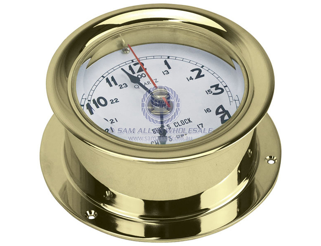 Clock Brass 80Mm Face 115Mm Od
