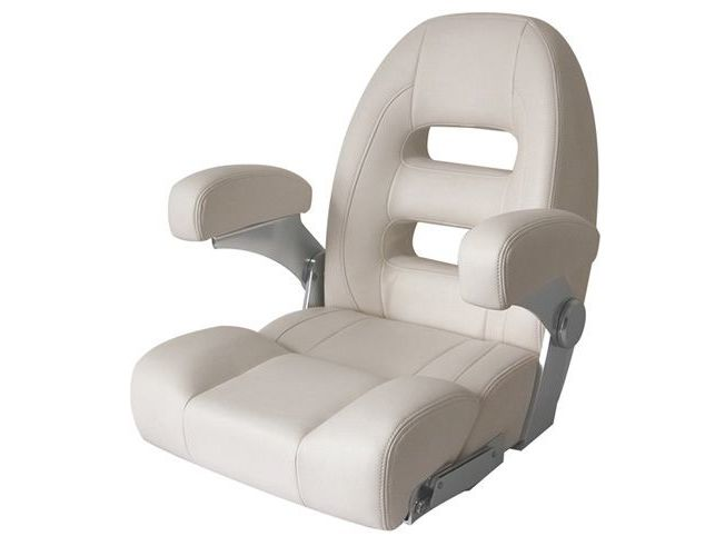 RELAXN Cruiser Series High Back Boat Seat - Ivory White