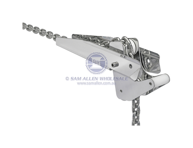 316G Stainless Steel Moray Bow Roller 400mm Double Action Boat Marine Anchor
