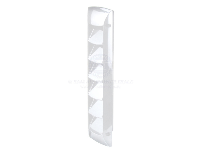 Abs Slotted White 7 Louvered Vent