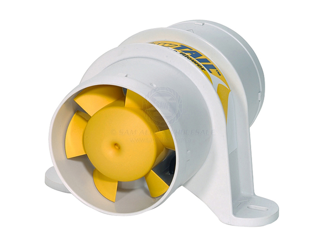 Shurflo Boat Bilge Blower Exhaust Ventilation Fan 75mm 6-Blade Marine Caravan