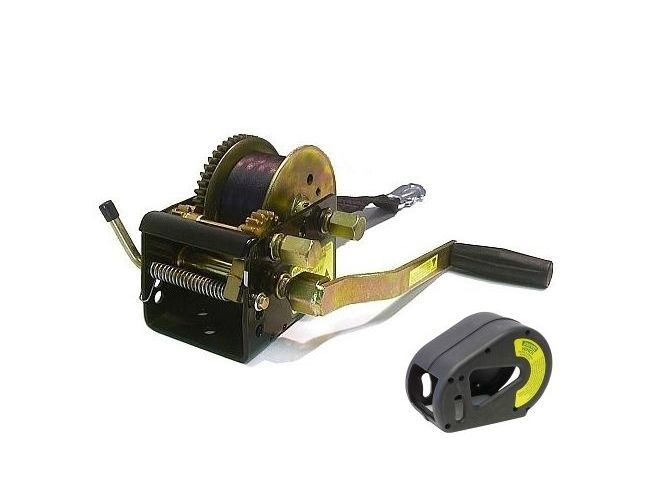 Jarrett Winch 3-Speed 800kg 7.5m Webbing and Snap Hook Cover Boat Marine Trailer